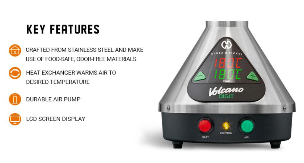 volcano vaporizer features